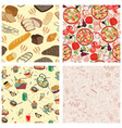 set seamless texture design with meal food and vector image vector image