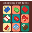 Shopping flat color icons set vector image vector image