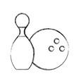 sketch draw pin and ball cartoon vector image vector image