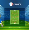 Soccer team arrangement Football infographic vector image vector image