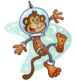 Space Monkey Cartoon Character vector image