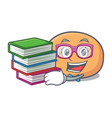 student with book mochi mascot cartoon style vector image vector image