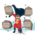superhero actions cartoon character template vector image vector image