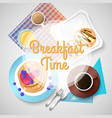 sweet morning template vector image