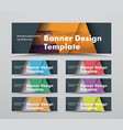 template horizontal black web banners with vector image