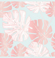 tropical leaf silhouette elements background vector image vector image