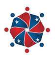 usa stars and people unity alliance logo vector image vector image