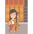 Woman playing cello vector image vector image