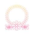wreath floral petals ornament decoration romantic vector image