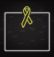 yellow cancer awareness symbol in realistic style vector image vector image