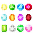 jewels diamonds gem stickers set vector image