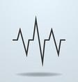 Icon of cardiogram ECG vector image