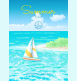 poster summertime vector image