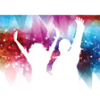 Abstract party people background vector image