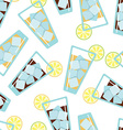 Seamless pattern with glasses of lemonade vector image