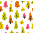 abstract seamless pattern with trees autumn vector image vector image