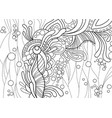 abstraction pattern with floral and aquatic natura vector image vector image