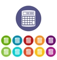 An electronic calculator set icons vector image vector image