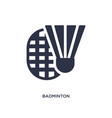 badminton icon on white background simple element