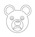 bear face emotion icon sign design vector image