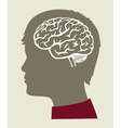 black Brain icon vector image