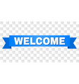 blue stripe with welcome text vector image