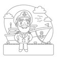 captian coloring page vector image