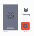 cat company logo app icon and splash page design vector image