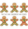 christmas game for children with gingerbread man vector image