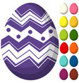 colorful purple ultra violet easter chocolate vector image vector image