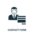 contact form icon symbol creative sign vector image