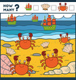 counting game for preschool children educational vector image vector image