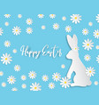 creative paper cut happy easter background with vector image vector image