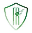 cricket shield emblem icon vector image vector image