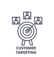 customer targeting line icon concept customer vector image