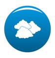 dark cloudy icon blue vector image vector image