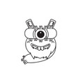 design character one eye monster vector image vector image