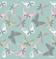 elegant seamless pattern with cute butterflies vector image vector image