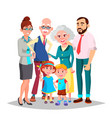 family mom dad children grandparents vector image vector image