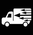 fast delivery car icon design vector image vector image