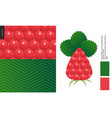 food patterns fruit raspberry vector image vector image