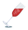 glass of red champagne vector image vector image