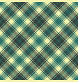 green yellow plaid check pixel seamless pattern vector image vector image