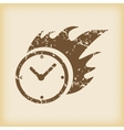 Grungy burning clock icon vector image vector image