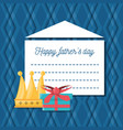 hathers day card with decoration elements vector image vector image