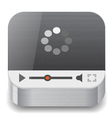 Icon for streaming media vector image