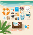 Infographic travel planning a summer vacation vector image