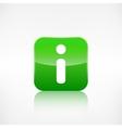 Information web icon Application button vector image