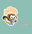 international chef day greeting card funny vector image vector image