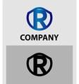 Letter R logo Alphabet logotype design vector image vector image